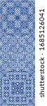 antique azulejo tiles patchwork.... | Shutterstock .eps vector #1685126041
