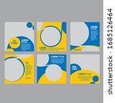 editable minimum square banner... | Shutterstock .eps vector #1685126464
