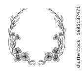 branch floral vintage draw... | Shutterstock .eps vector #1685137471