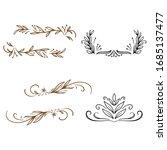 branch floral vintage draw... | Shutterstock .eps vector #1685137477