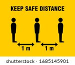 keep safe distance social... | Shutterstock .eps vector #1685145901