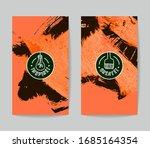 set of vector business card... | Shutterstock .eps vector #1685164354