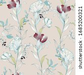 seamless floral pattern in... | Shutterstock .eps vector #1685200321