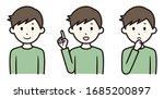 illustration of a man in three...   Shutterstock .eps vector #1685200897