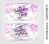 happy valentine's day hand... | Shutterstock .eps vector #168520871