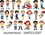 large set of children doing... | Shutterstock .eps vector #1685213287