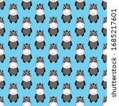 seamless pattern zebra cartoon ....   Shutterstock .eps vector #1685217601