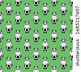 seamless pattern cute cow... | Shutterstock .eps vector #1685217607