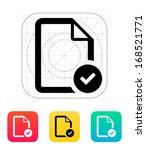 check file icon. vector...