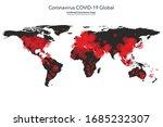 coronavirus covid 19 map... | Shutterstock .eps vector #1685232307