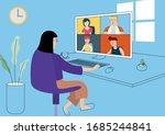 work from home illustration ...   Shutterstock .eps vector #1685244841