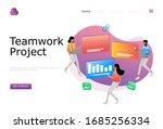 teamwork project vector...