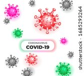 coronavirus covid 19 3d... | Shutterstock .eps vector #1685293264