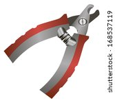 special pliers for declawing... | Shutterstock .eps vector #168537119