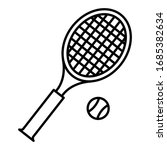 Tennis Icon Vector Sign And...