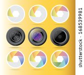 camera lens graphic background  | Shutterstock . vector #168539981