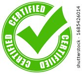 green certified quality vector... | Shutterstock .eps vector #1685426014