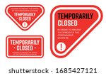 temporarily closed sign of... | Shutterstock .eps vector #1685427121