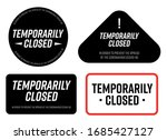 temporarily closed. information ... | Shutterstock .eps vector #1685427127
