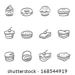 cake icons in sketch. | Shutterstock .eps vector #168544919