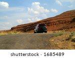 honda crv parked along a two... | Shutterstock . vector #1685489