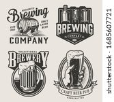 monochrome brewery vintage... | Shutterstock . vector #1685607721