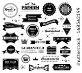 retro design elements. labels... | Shutterstock .eps vector #168562199