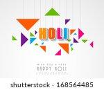indian color festival holi... | Shutterstock .eps vector #168564485