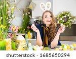 Beautiful Woman Wearing Bunny...