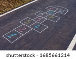Hopscotch Game Drawn With Chalk ...