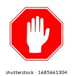 stop sign vector illustration... | Shutterstock .eps vector #1685661304