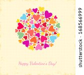 valentine's day background with ... | Shutterstock .eps vector #168566999