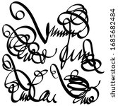 abstract scribbles  vignettes ... | Shutterstock .eps vector #1685682484