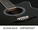 Body Of Black Electric Acoustic ...