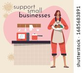 support your small businesses... | Shutterstock .eps vector #1685683891