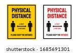 physical distance not social... | Shutterstock .eps vector #1685691301