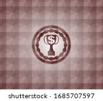 trophy with money symbol inside ... | Shutterstock .eps vector #1685707597