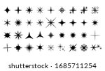 set black star icons sparkles... | Shutterstock .eps vector #1685711254
