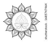 black and white round mandala...   Shutterstock .eps vector #1685747464