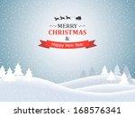 christmas landscape | Shutterstock . vector #168576341