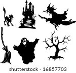 halloween silhouettes 1 | Shutterstock .eps vector #16857703