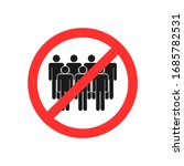 sign team get together is not... | Shutterstock .eps vector #1685782531