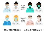 medical workers. set of... | Shutterstock .eps vector #1685785294