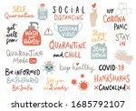 coronavirus covid 19 letterings ... | Shutterstock .eps vector #1685792107