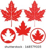 Maple Leaf. Icon.  Vector....