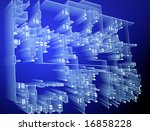 electrical network - stock photo