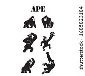 ape icon in different style...