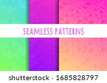 set with topographic map... | Shutterstock .eps vector #1685828797