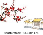 classic china  chinese painting ... | Shutterstock . vector #168584171