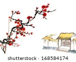 classic china  chinese painting ... | Shutterstock . vector #168584174
